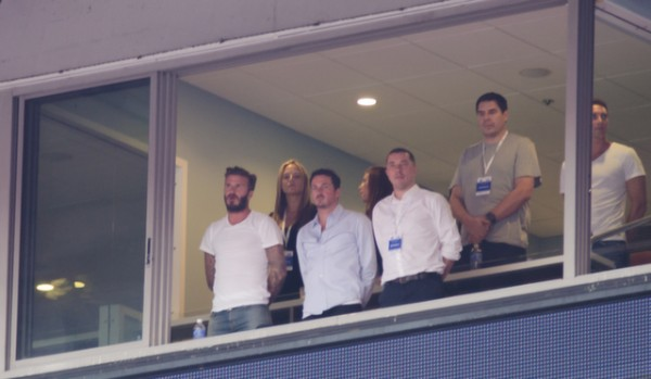 david beckham miami 600x349 Photos From England vs Honduras Friendly In Miami: World Cup Warmup Match