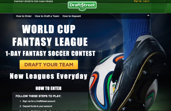 draft street world cup contest 600x391 Play in a 1 Day World Cup Fantasy League With DraftStreet