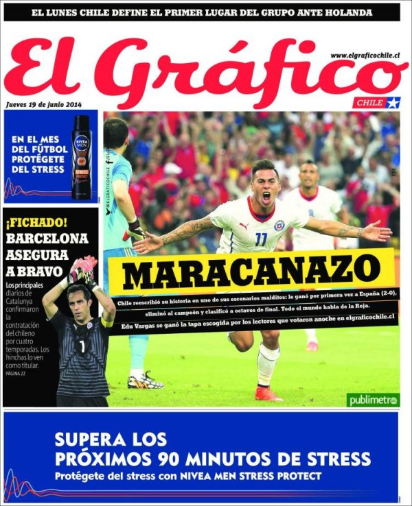 el grafico 600x738 Reaction From Chile And Spain Newspapers to Chile 2 0 Spain [PHOTOS]