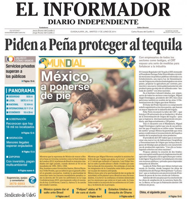 el infirmador poderse a pie 600x637 Mexico Newspapers Confident Of Victory Ahead of Brazil World Cup Game [PHOTOS]