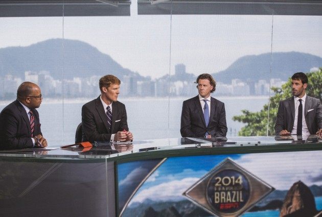 espn world cup set Review of ESPNs World Cup TV Coverage After Week 1