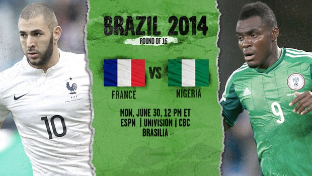 france nigeria France vs Nigeria, Starting Lineups, TV Times and World Cup Open Thread