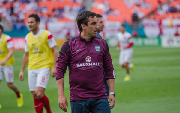 gary neville 600x378 Photos From England vs Honduras Friendly In Miami: World Cup Warmup Match