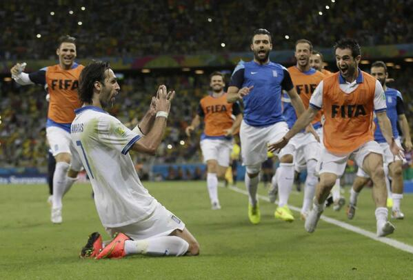 georgios samaras Samaras Scores Last Minute Penalty to Send Greece to Round Of 16