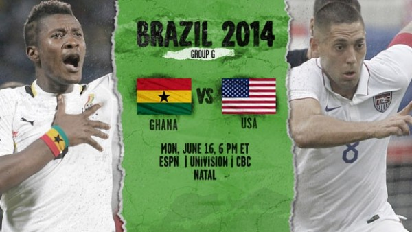 ghanausa 600x338 Ghana vs USA, Starting Lineups and World Cup Open Thread