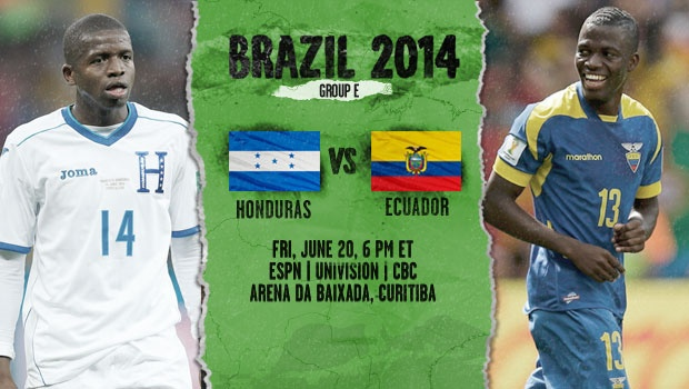 honduras ecuador Ecuador vs Honduras, Starting Lineups and World Cup Open Thread
