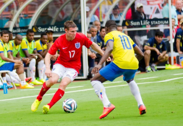 james milner 600x415 England Prepare for World Cup With Warmup Matches in Miami [PHOTOS]