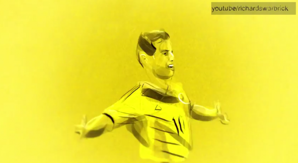 james rodriguez 600x330 WATCH Amazing Animation of James Rodriguezs Goal For Colombia Against Uruguay [VIDEO]
