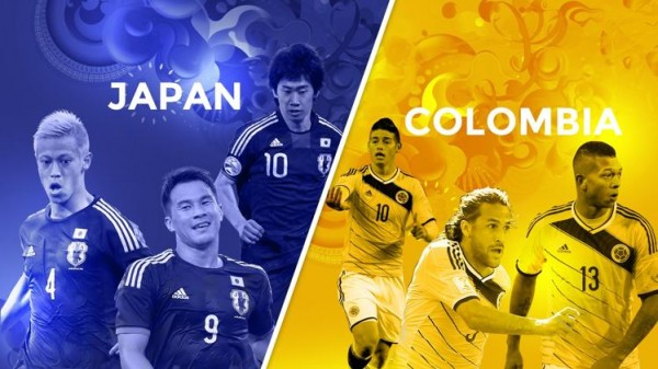 japan colombia 600x337 Colombia vs Japan Preview and Predicted Lineups