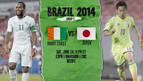 japan ivory coast Ivory Coast vs Japan, World Cup Group Stage Open Thread