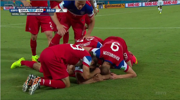 john brooks WATCH John Brooks Late Goal To Help USA Defeat Ghana [VIDEO]