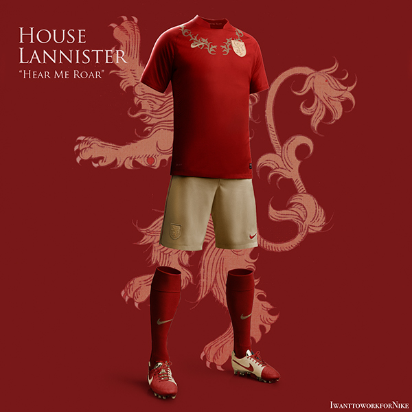 lannister 9 Kit Designs for Game of Thrones Houses