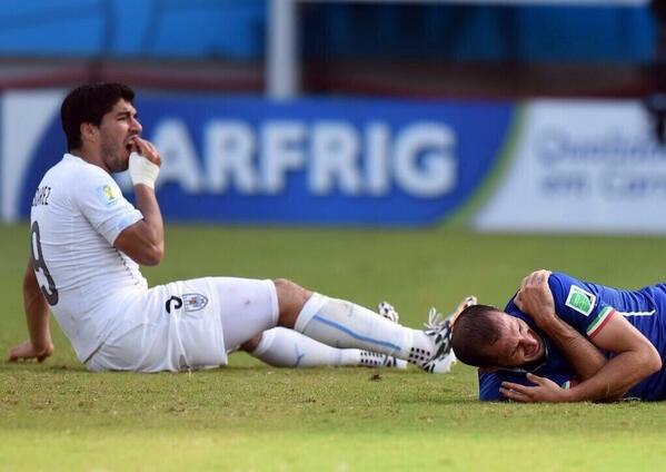 luis suarez3 Luis Suarez Claims These Things Happen In The Box After Biting Incident Mars Win Against Italy
