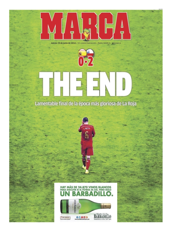 marca Reaction From Chile And Spain Newspapers to Chile 2 0 Spain [PHOTOS]