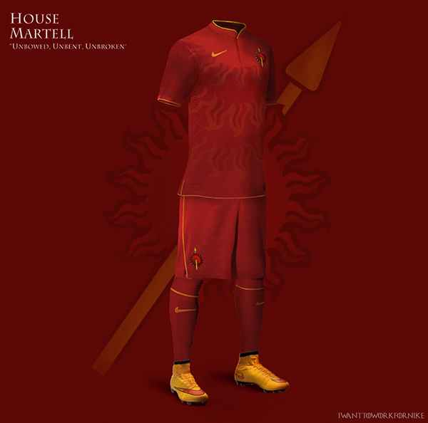 martell 9 Kit Designs for Game of Thrones Houses