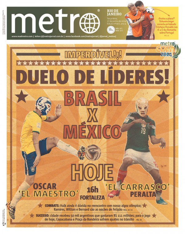 metro 600x760 Mexico Newspapers Confident Of Victory Ahead of Brazil World Cup Game [PHOTOS]