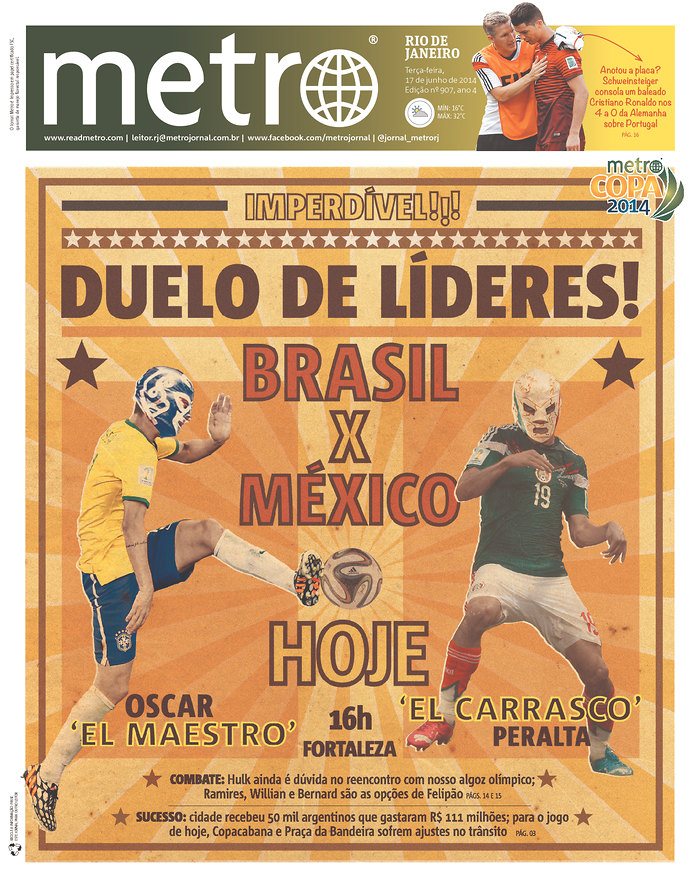 Mexico Newspapers Confident Of Victory Ahead of Brazil World Cup Game [PHOTOS]
