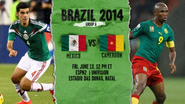 mexico cameroon 600x338 Mexico vs Cameroon, World Cup: Open Thread