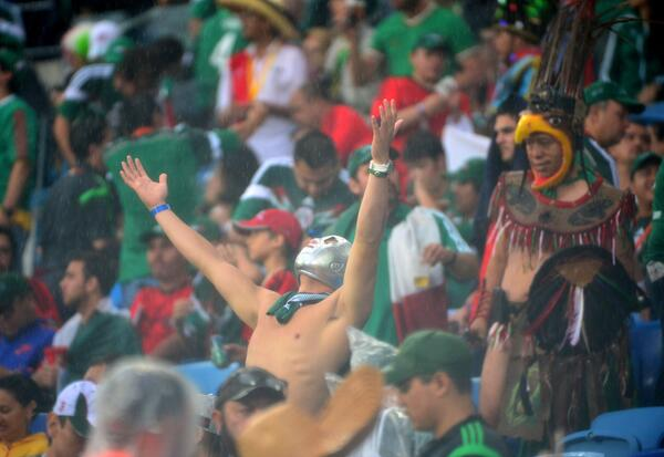 mexico fans Mexico 1 0 Cameroon: Peralta Nets Winner In Another Controversial Game; Match Highlights [VIDEO]
