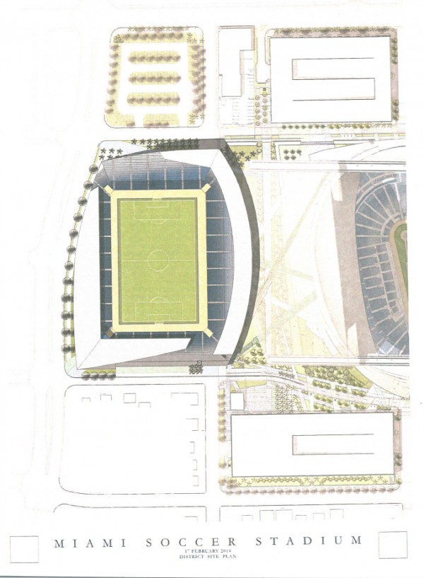 miami mls stadium marlins park 600x817 City of Miami Says No To MLS Stadium; Beckham and His Group Will Now Look For Option C
