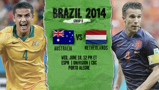 netherlands australia Netherlands vs Australia, Starting Lineups and World Cup Open Thread