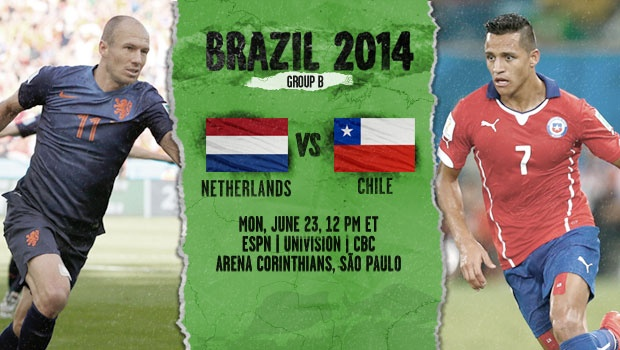 netherlands chile Chile vs Netherlands Preview: World Cup Group B Decider