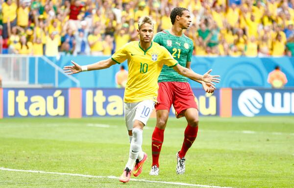 neymar2 WATCH Brazil 2 1 Cameroon First Half Highlights [VIDEO]
