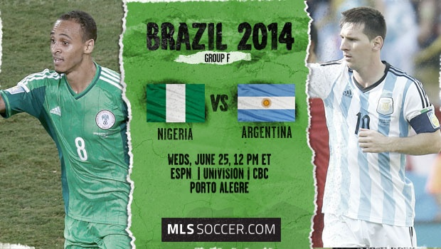 Argentina vs Nigeria: Starting Lineups And World Cup Open Thread