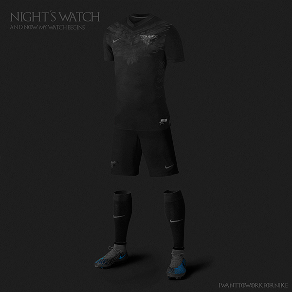 nightswatch 9 Kit Designs for Game of Thrones Houses
