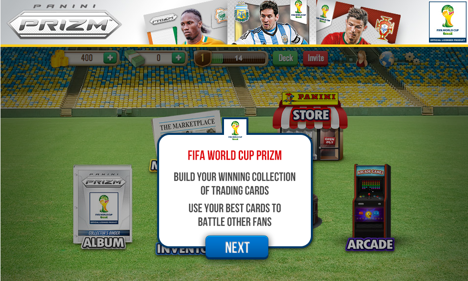 Panini Launches World Cup Prizm Mobile Game and iPhone App