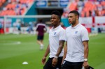 raheem sterling alex oxlade chamberlain 150x99 Photos From England vs Honduras Friendly In Miami: World Cup Warmup Match