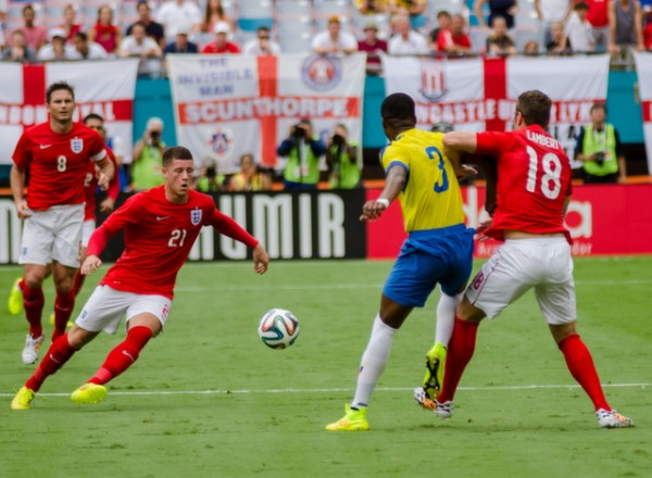 ross barkley england world cup 600x440 England Prepare for World Cup With Warmup Matches in Miami [PHOTOS]