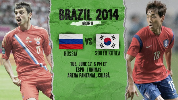 south korea russia Russia vs South Korea, Starting Lineups and Open Thread