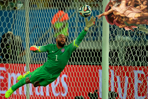 tim howard US Soccer Fans in Houston Explode With Excitement After Win Against Ghana [VIDEO]