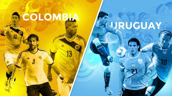 Where to Find Colombia vs Uruguay World Cup Game On US Television and Internet