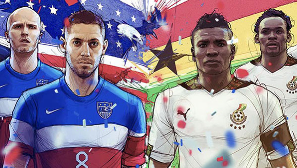 usa ghana Where to Find USA vs Ghana On US Television and Internet; Coverage Starts at 5:30pm ET/2:30pm PT