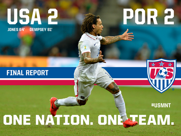 usa portugal4 WATCH USA 2 2 Portugal Match Highlights [VIDEO]