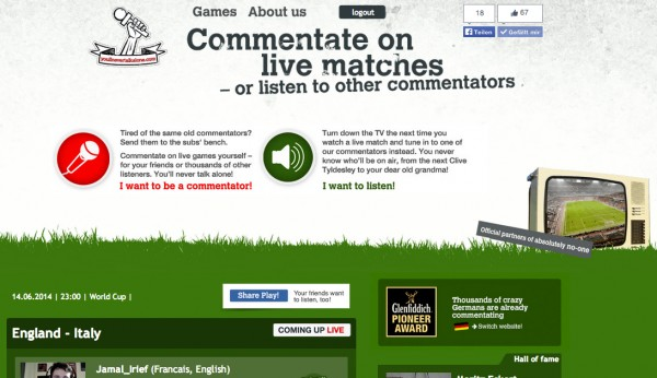 ynta screenshot 600x346 Commentate On Live World Cup Matches Or Listen to Other Commentators With Youll Never Talk Alone