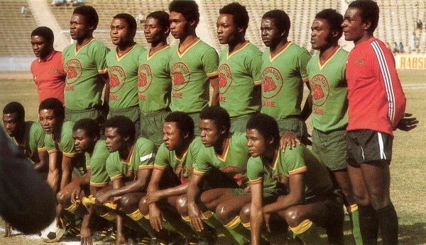 zaire 1974 600x346 The Leopards of Zaire in the 1974 World Cup