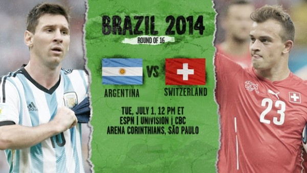1 600x338 Argentina vs Switzerland: Starting Lineups, TV Times And World Cup Open Thread