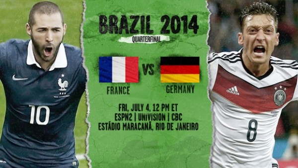 11 600x338 France vs Germany: Starting Lineups, TV Times And World Cup Open Thread