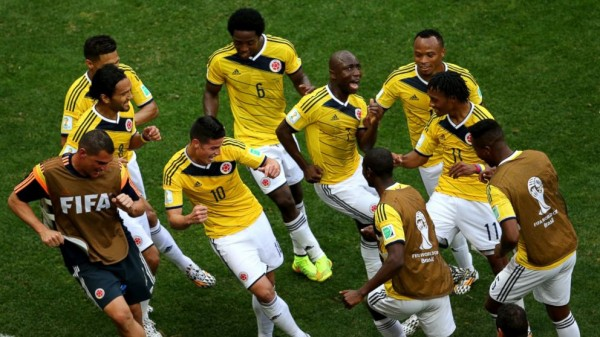 Colombia Celebration 600x337 Colombia vs Brazil Preview: Colombia Faces Toughest Test in World Cup