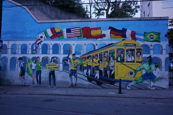 DSC00223 600x400 Travels in Brazil: Street Art Critiques of the World Cup [PHOTOS]