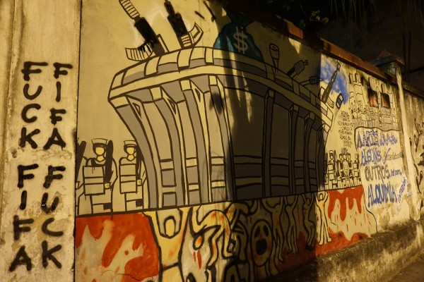 DSC00278 600x400 Travels in Brazil: Street Art Critiques of the World Cup [PHOTOS]