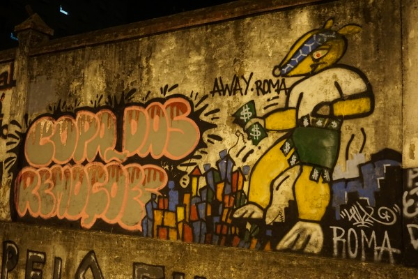 DSC00279 600x400 Travels in Brazil: Street Art Critiques of the World Cup [PHOTOS]