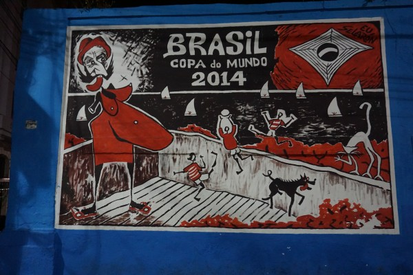 DSC00345 600x400 Travels in Brazil: Street Art Critiques of the World Cup [PHOTOS]