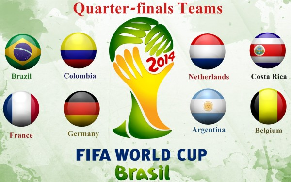 FIFA World Cup 2014 Quarter finals Teams Wallpaper 600x375 Predictions and Previews For World Cup Quarterfinals