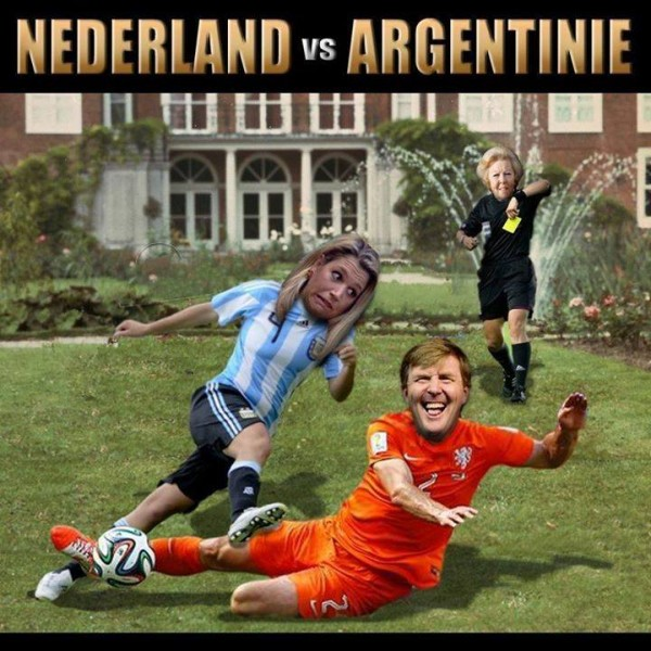 Holland Royal House Divided 600x600 Front Covers of Newspapers From Argentina and Netherlands Ahead of World Cup Semifinal [PHOTOS]