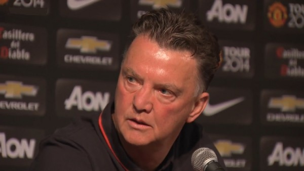 LVGLA 600x338 Louis Van Gaal Insists Hes In No Rush To Sign New Players