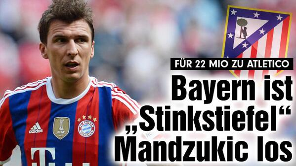 Mandzukic  Mario Mandzukic Heading to Atletico Madrid from Bayern Munich